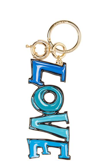 Lanvin - Blue & Gold Love Keychain