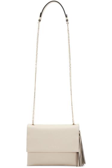 Lanvin - Beige Leather Mini Sugar Shoulder Bag