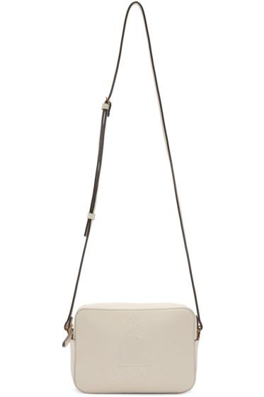 Lanvin - Ivory Leather Nomad Shoulder Bag