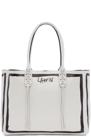 Lanvin - White Contouring Small Shopper Tote