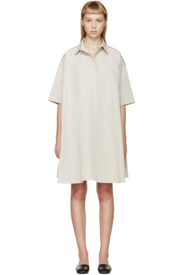 Lanvin - Beige Poplin Oversized Smock Dress