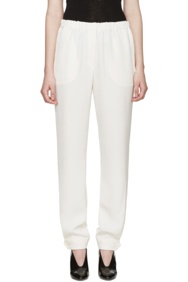 Lanvin - White Button Cuffs Trousers