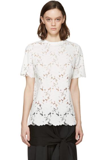 Lanvin - White Floral Lace Blouse