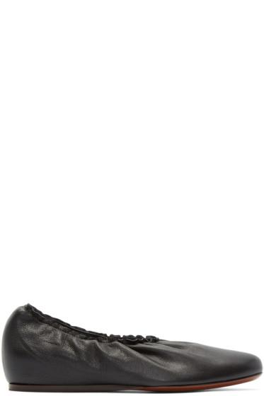 Lanvin - Black Leather Ballerina Flats
