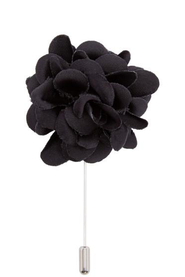 Lanvin - Black Rose Tie Pin