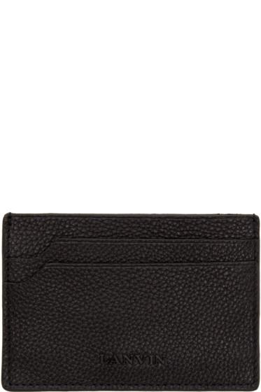 Lanvin - Black Grained Leather Card Holder