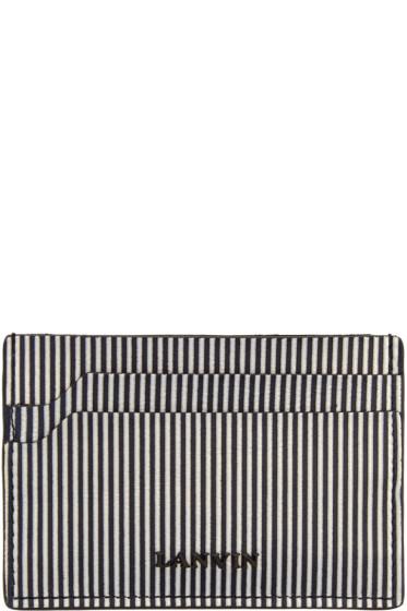 Lanvin - Black & White Striped Card Holder