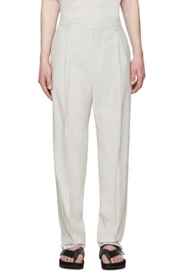 Lanvin - Grey Cotton Trousers