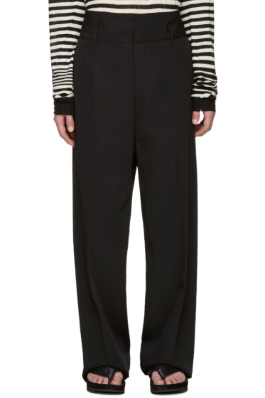 Lanvin - Black Cotton Oversized Trousers