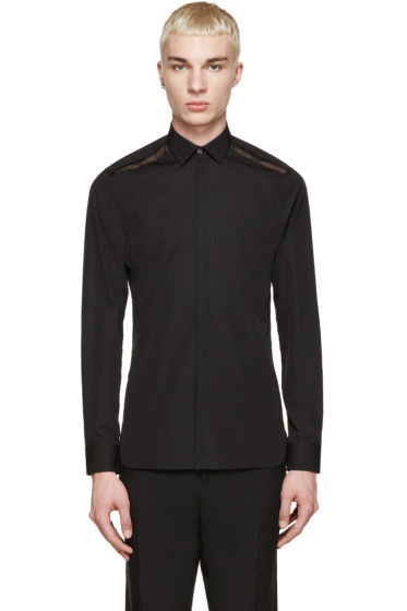 Lanvin - Black Sheer Detail Shirt