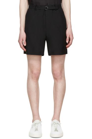 Lanvin - Black Belted Shorts