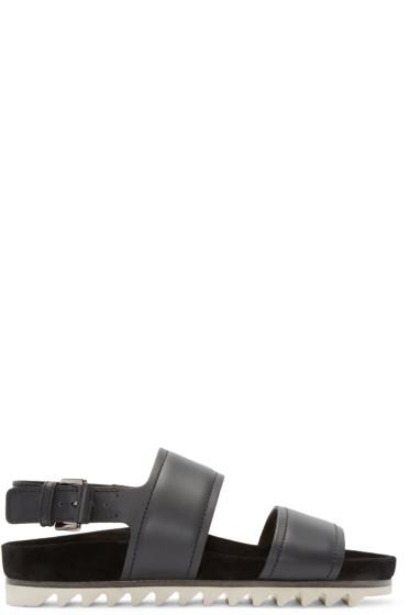 Lanvin - Black Leather Strap Sandals