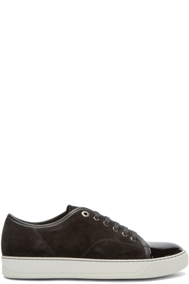 Lanvin - Black Suede & Leather Tennis Sneakers