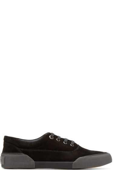 Lanvin - Black Suede Low-Top Sneakers