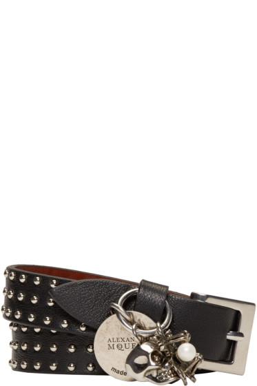 Alexander McQueen - Black Studded Charm Bracelet
