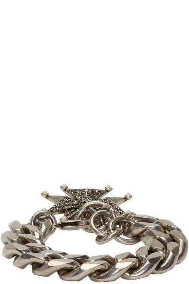 Alexander McQueen - Silver Cross Chain Bracelet