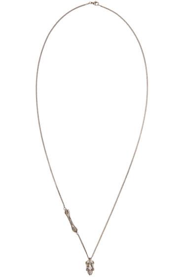 Alexander McQueen - Gunmetal Skull Pendant Necklace