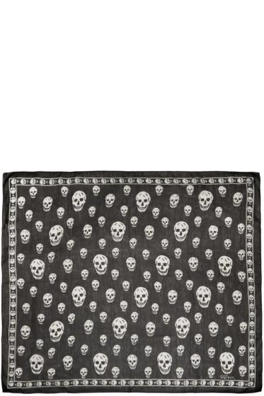 Alexander McQueen - Black Chiffon Skull Scarf