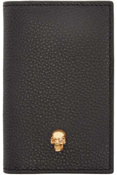 Alexander McQueen - Black Leather Pocket Organizer