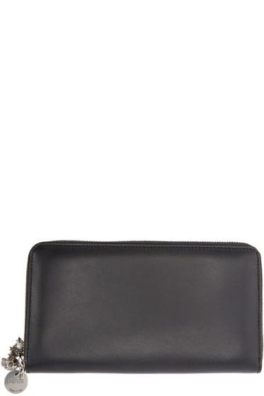 Alexander McQueen - Black Leather Charm Wallet