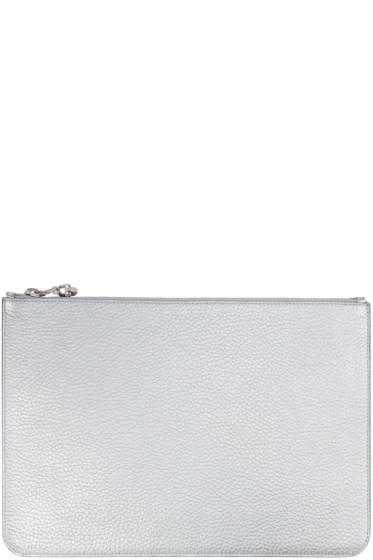 Alexander McQueen - Silver Leather Pouch