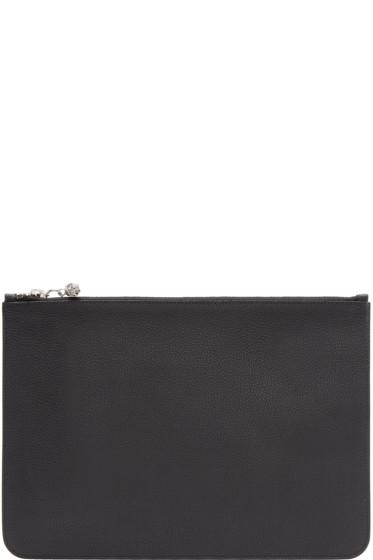 Alexander McQueen - Black Leather Zip Pouch