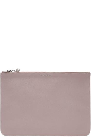 Alexander McQueen - Pink Leather Zip Pouch