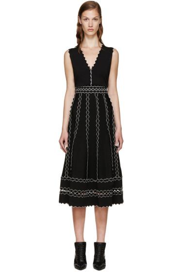 Alexander McQueen - Black Scalloped Trim Dress
