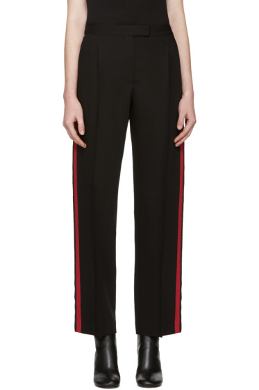 Alexander McQueen - Black & Red Band Trousers