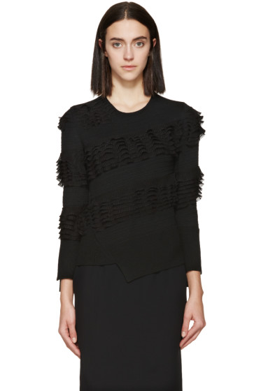 Alexander McQueen - Black Wool Ruffle Sweater