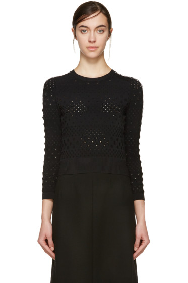 Alexander McQueen - Black Cut-Out Pullover