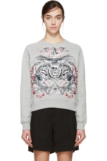 Alexander McQueen - Grey Tattoo Sweatshirt