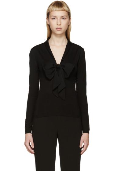 Alexander McQueen - Black Bow Collar Sweater