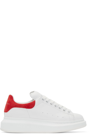 Alexander McQueen - White & Red Double Sole Sneakers