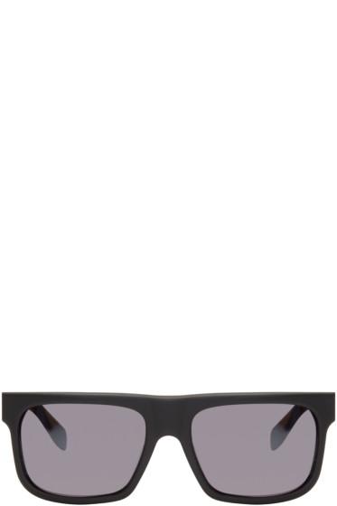 Alexander McQueen - Black Matte Square Sunglasses