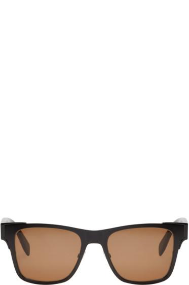 Alexander McQueen - Black Metal Square Sunglasses