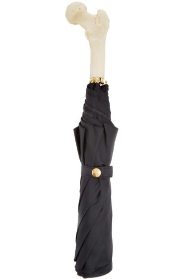 Alexander McQueen - Black & White Bone Umbrella