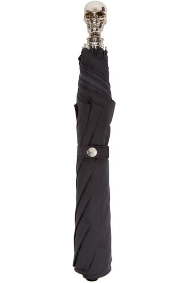 Alexander McQueen - Black & Silver Skull Umbrella
