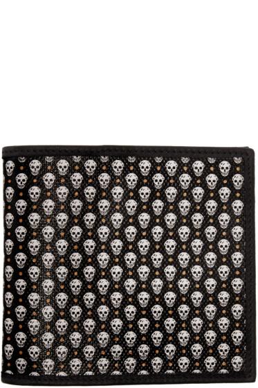 Alexander McQueen - Black Skull Print Wallet