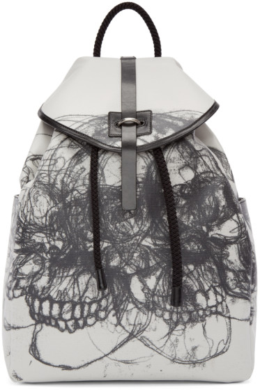 Alexander McQueen - Black & Off-White Best Skulls Backpack