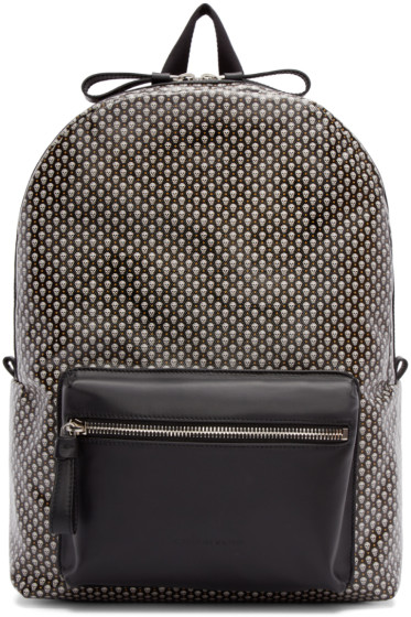 Alexander McQueen - Black Canvas Skull Backpack