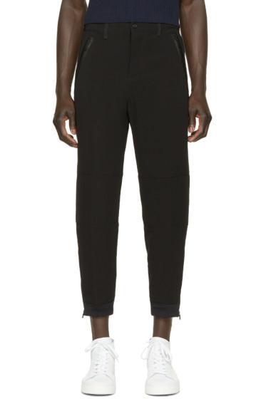 Alexander McQueen - Black Crepe Zip Trousers