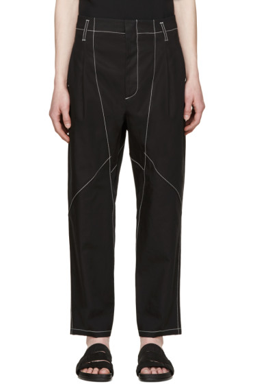Alexander McQueen - Black Topstitched Trousers