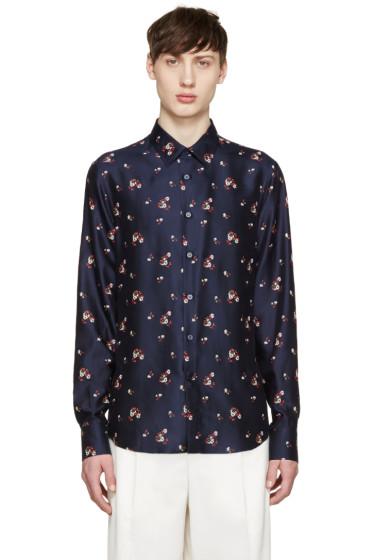 Alexander McQueen - Navy Floral Shirt