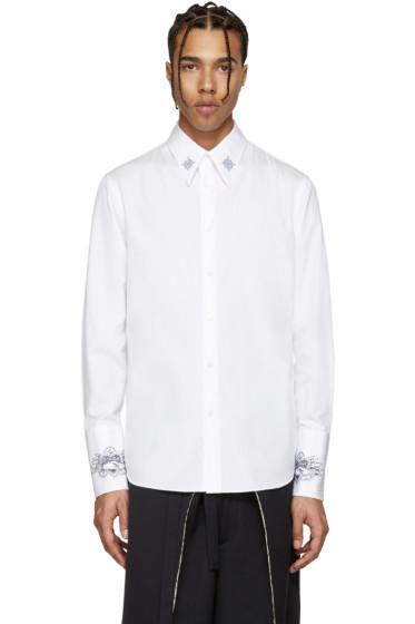 Alexander McQueen - White Poplin Tattoo Shirt