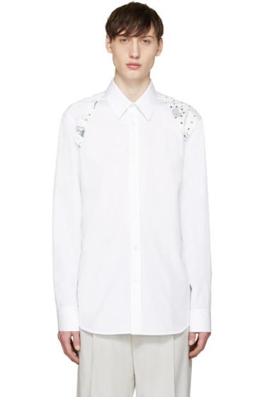 Alexander McQueen - White Poplin Tattoo Harness Shirt