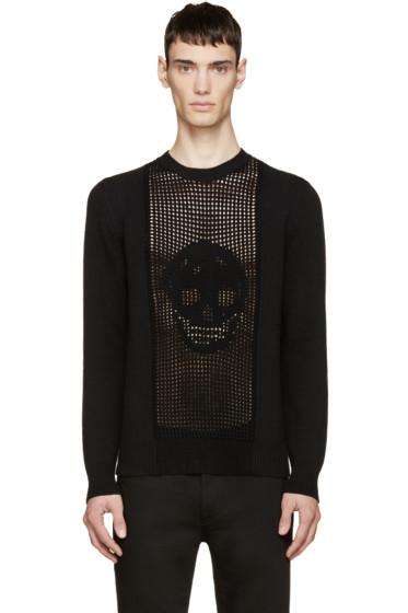Alexander McQueen - Black Crochet Skull Sweater