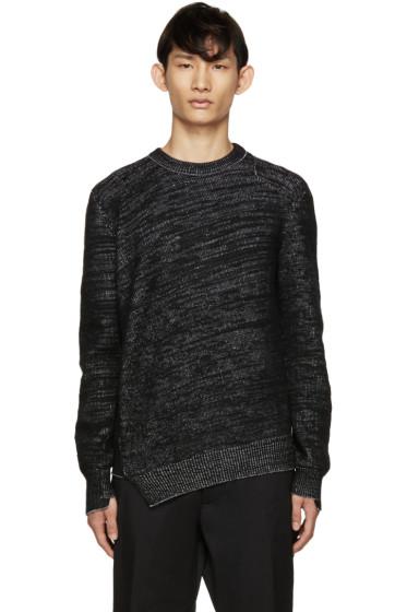 Alexander McQueen - Black Wool & Cashmere Asymmetric Sweater