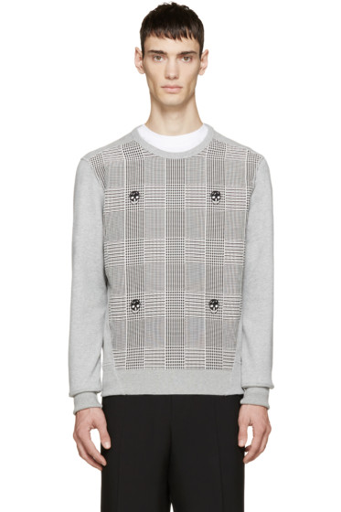 Alexander McQueen - Grey Prince of Wales Skull Pullover