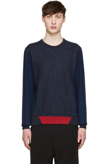 Alexander McQueen - Indigo Denim Panel Pullover